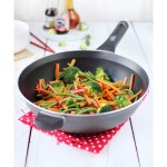 Pyrex Attraction Antihaft-Induktions-Wok inkl. Griff, grau, 28cm