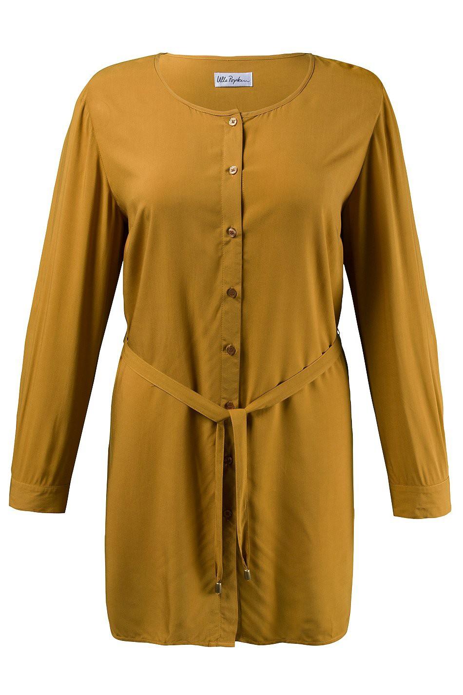 ulla popken lange bluse ohne kragen beige neu damenmode. Black Bedroom Furniture Sets. Home Design Ideas