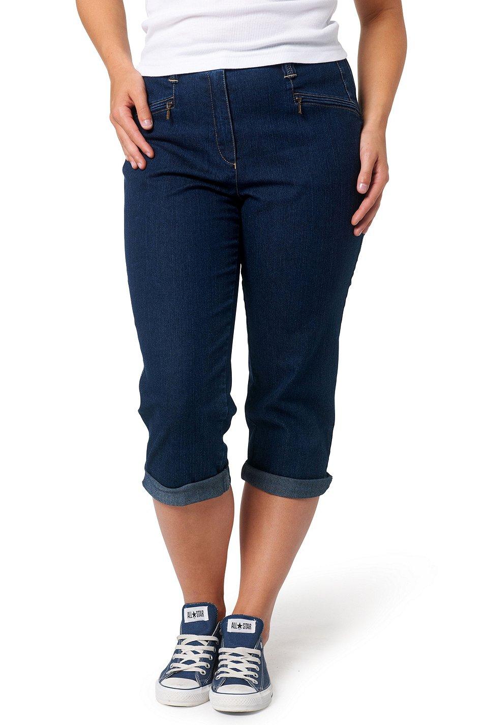 ULLA POPKEN BASICS 7/8 Jeans Mony Stretch dunkelblau NEU Gr. 50
