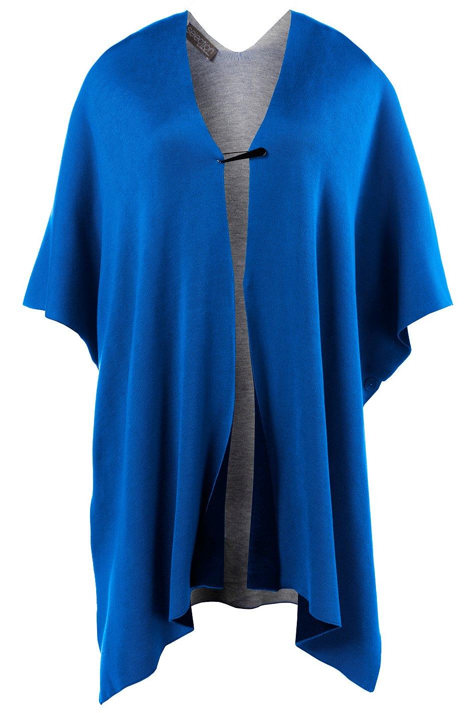 ulla popken wende poncho blau neu gr 3 outlet. Black Bedroom Furniture Sets. Home Design Ideas